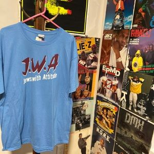 J.W.A. Jewish With Attitude Crewneck Teeshirt